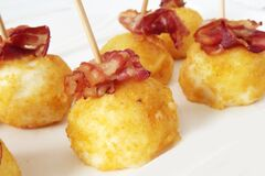 Round Food With Bacon Royalty Free Stock Photo