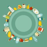 Round food frame. Stock Images