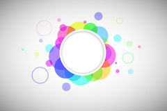 Round form with colored circles Stock Image