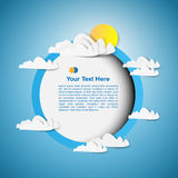 Round frame Stock Image