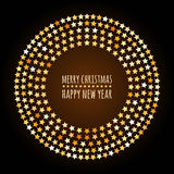 Round frame from abstract glowing stars. Vector holiday backgrou Royalty Free Stock Images