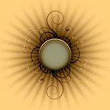 Round frame background. An illustration of a round frame background Stock Photos