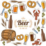 Round frame with beer Royalty Free Stock Images