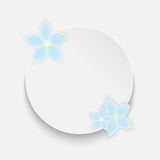 Round frame with blue flowers Stock Photos