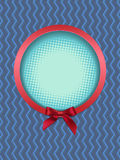 Round frame with bow. Vector illustration Royalty Free Stock Image