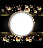 Round frame and bubbles Royalty Free Stock Photos