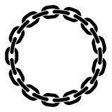 Round frame of chain Stock Images