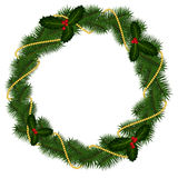 Round frame for Christmas Stock Image