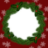 Round frame for Christmas Royalty Free Stock Photos