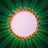 Round frame cinema Stock Photography