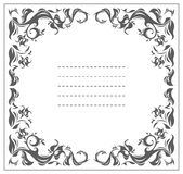 Round frame with classic floral ornament Royalty Free Stock Image