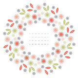 Round frame with colorful chamomile flowers Royalty Free Stock Photo
