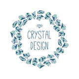 Round frame of crystals. Stock Photo