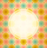 Round frame on cute baby background  Vintage banner. On seamless pattern with circles Royalty Free Stock Image