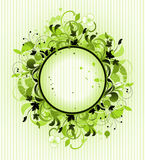 Round frame is decorated floral elements Royalty Free Stock Photo