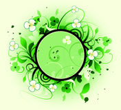 Round frame is decoreted floral elements Royalty Free Stock Photography