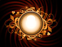 Round frame with design elements Royalty Free Stock Photography