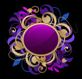 Round frame with design elements Royalty Free Stock Photos