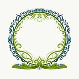 Round frame with exquisite pattern.  Stock Photos