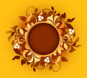 Round frame with floral elements Stock Images