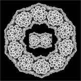 Round Frame - floral lace ornament Stock Image