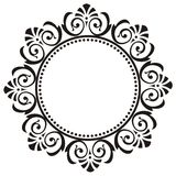 Round frame with floral ornament royalty free stock images