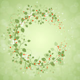 Round frame with floral ornament. Vector illustration Royalty Free Stock Photos