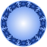 Round Frame from Floral Pattern Royalty Free Stock Photography