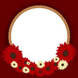 Round frame from floral pattern Stock Photo