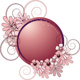 Round frame with flowers Royalty Free Stock Photos