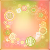 Round frame of flowers. Vector illustration of a round frame of flowers Royalty Free Stock Photography