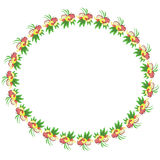 Round frame with fruits. Stock Photos