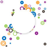 Round frame with gears Royalty Free Stock Photos