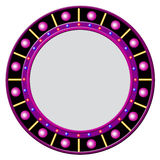 Round frame with glowing balls Stock Photography