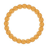 Round frame - gold chain on the white background. Royalty Free Stock Images