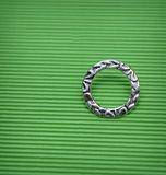 Round frame on a green background Royalty Free Stock Images