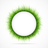 Round frame with green grass Royalty Free Stock Photo