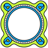 Round frame invitation card Royalty Free Stock Images