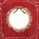 Round frame with lace Stock Photo