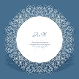 Round frame with lace border pattern Royalty Free Stock Photography