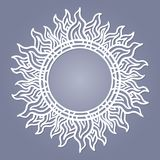Round frame for laser cutting. royalty free illustration