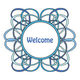 Round frame of the loop. Vector illustration Royalty Free Stock Image