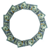 Round frame made ​​of mone. An isolated Round frame made ​​of money Royalty Free Stock Photo