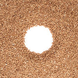 Round frame made of buckwheat Royalty Free Stock Image