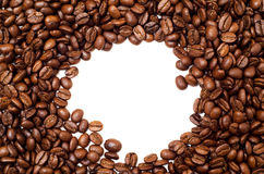 Round Frame Made of Coffee Beans Royalty Free Stock Image
