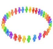 Round frame made of group of symbolic people Royalty Free Stock Image