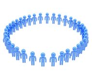 Round frame made of group of symbolic people Royalty Free Stock Photos