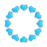 Round frame made of hearts isolated Royalty Free Stock Photo