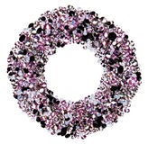 Round frame made from many small purple diamonds Royalty Free Stock Photography