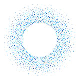 Round Frame Made Of Dots Or Spots, Shades Of Blue Royalty Free Stock Photos